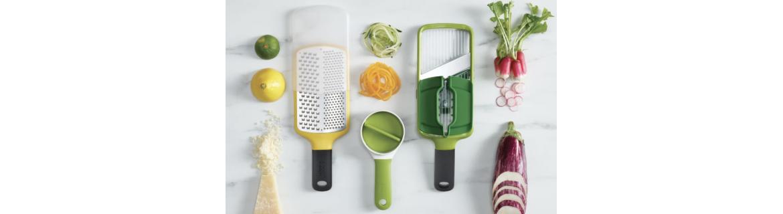 Découvrez la sélection d'ustensiles de cuisine Joseph Joseph coloris vert et autres